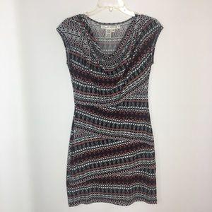 Maz studio sheath dress short sleeve small